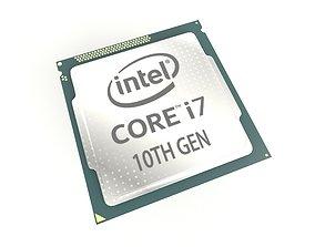 3D asset Intel CPU i7 10th Gen v1 001