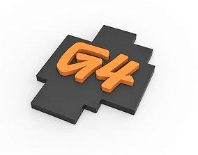 3D printable G4 American TV network Logo g4tv