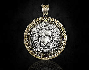 3D printable model pendants Lion head pendant