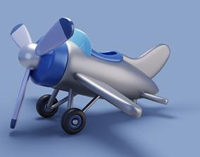 Cartoon stylized airplane 3D model