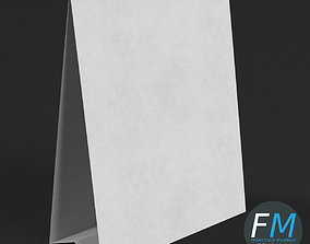 3D model PBR Table tent template 1