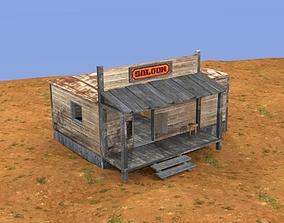 3D asset Western saloon