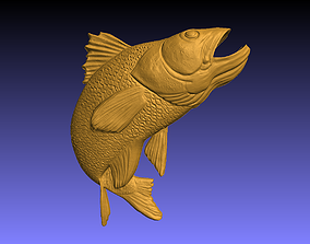Fish wall decor 3D printable model