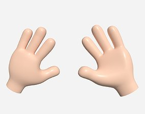 Cartoon Hand - Four Toon Fingers 3D model