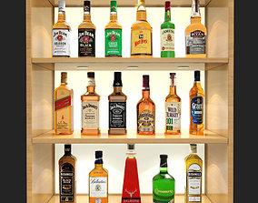 3D model Whiskey Bar Set