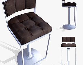 3D asset Lowpoly Bar Stool model