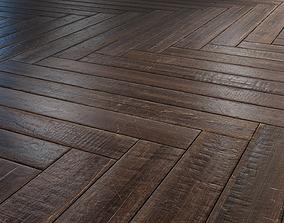 Old herringbone Parquet - PBR textures 3D model