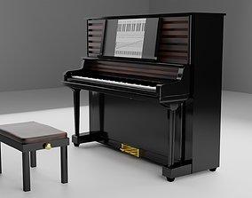 3D model VR / AR ready piano