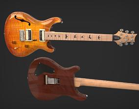PRS SE Custom 22 Semi-Hollow Electric Guitar 3D