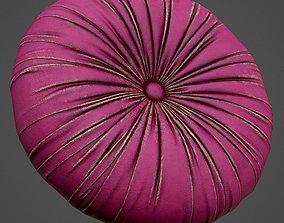 3D model round pink pillow PBR