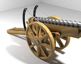 3D model Cannon - Malaka Meriam
