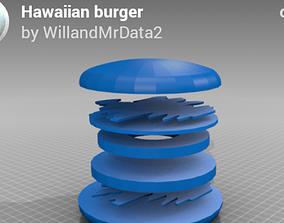 3D printable model Hawaiian burger