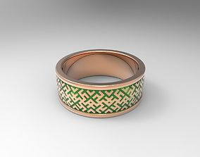 3D print model Simple ornamented wedding band geometric
