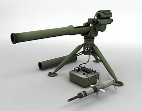 3D asset TOW 2 Missile and Launcher