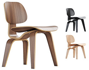 3D Vitra Plywood Dining Chair Wood DCW