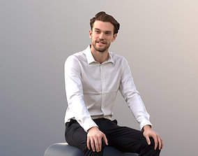 3D asset Kenneth 10008 - Sitting Business Man