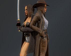 3D model Girl hunter