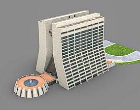 3D window Wilson Hall Fermilab building