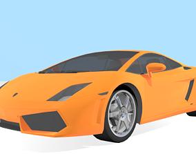 Lamborghini Gallardo 3D asset rigged