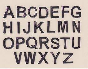 3D Alphabet low poly