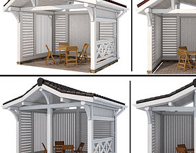3D model Arbor in a modern style 2 options