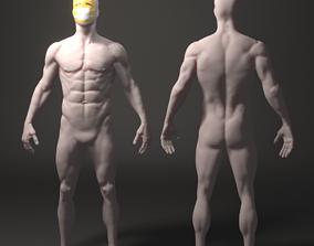 3D asset VR / AR ready Anatomical sculpture