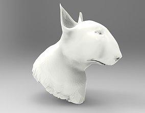 3D model Bullterrier bull terrier dog head