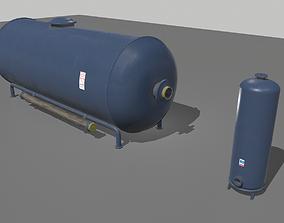 3D asset low-poly Industrial Tank 1