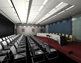 vestibule Luxury architectural Hall Lobby 3D model