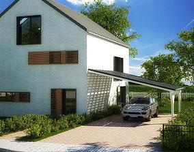 3D asset House 1 - Modern City Villa