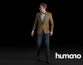 Humano Smart-casual Man Standing and walking 0416 3D model