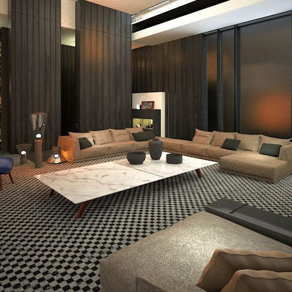 Concept living room Visualization Houston, Texas
