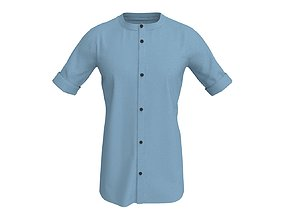 3D 3 D Men Casual Shirt with Rolled Sleeve