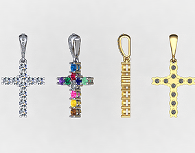 present Cross with stones 3D print model