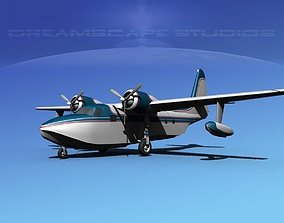 Grumman G-73 Mallard V07 3D model
