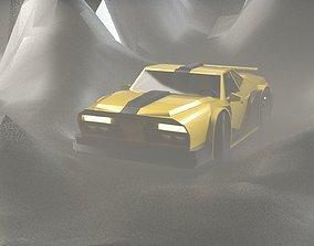 3D asset RACE CAR