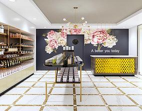 3D Beauty salon modern feminine style