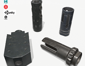3D model game-ready Muzzle Brake Pack Vol-3