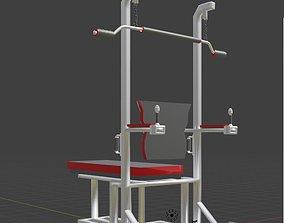 3D model sport equipment gym tool 3 object blender 2 8 1