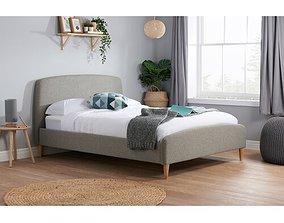 Double Brennan Upholstered Bed Frame 3D