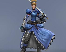 3D printable model Cinderella Warrior