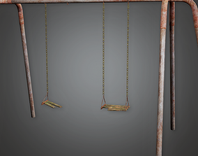 3D model PAP - Abandoned Swing Set - PBR Game Ready
