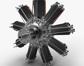 3D model Clerget 9B rotary engine