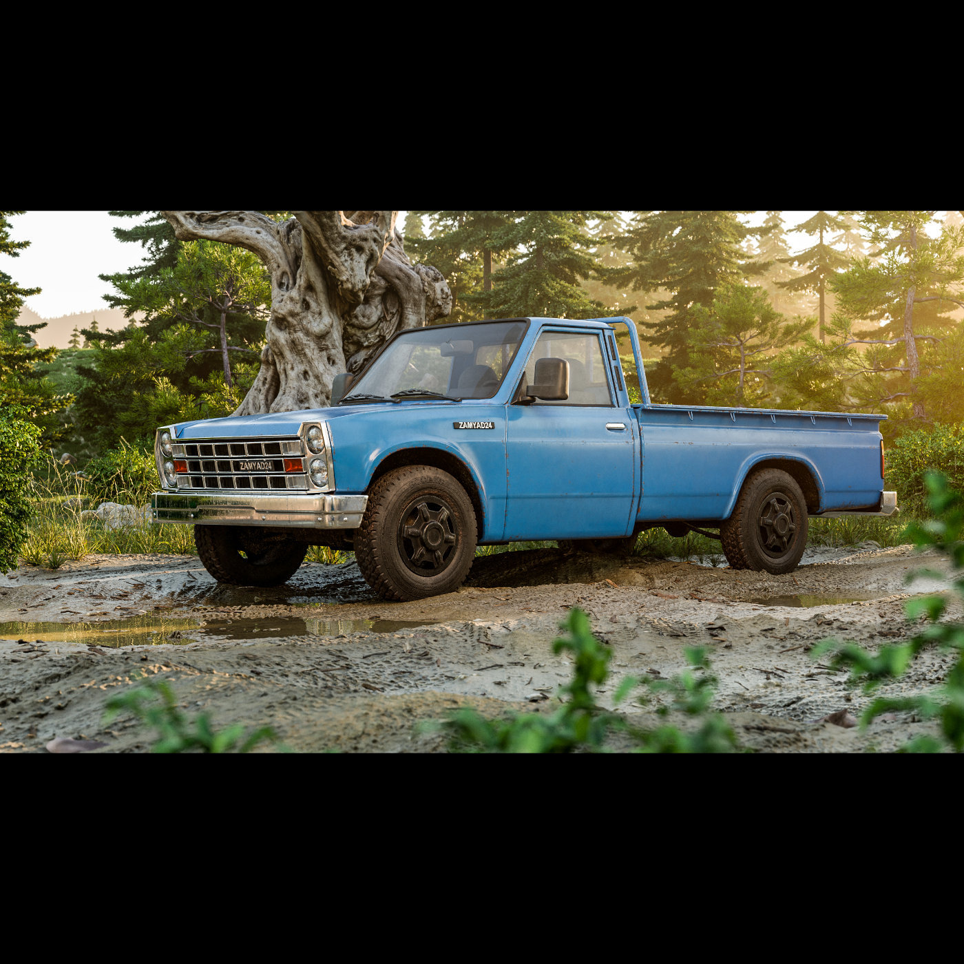 Truck by the forest 2