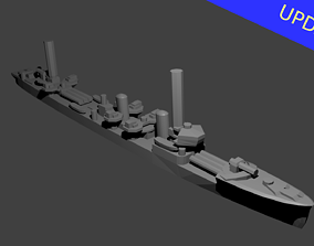 Japanese Mutsuki Class Destroyer Warship 3D print model