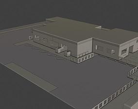 Layout 003 Restaurant 3D asset
