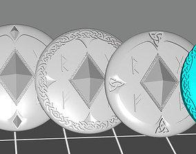 5 Wolf marine style viking storm 3D printable model 3