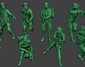 Modern Jungle Soldiers MJS1 Pack 1 3D