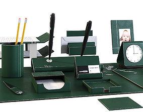 Desk Set for Executive Director 3D model table