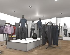 Fashion shop - interior and props 3D asset